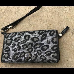 Coach leopard wristlet